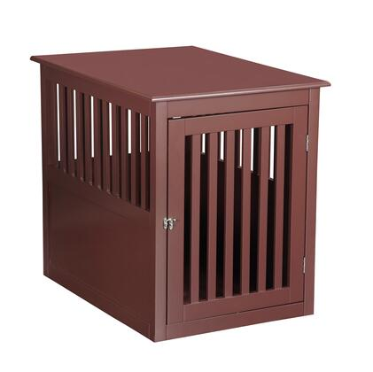PH1005-Dark Brown Pet Crate 9 inch  W 25 inch  H End Table In Dark