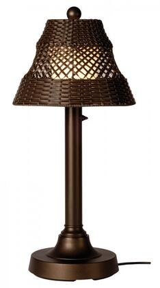 15217 Java 30 Outdoor Table Lamp With Walnut Shade  In