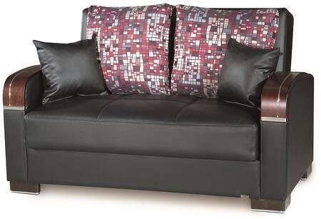 Mobimax Collection MOBIMAX LOVE SEAT BLACK PU 11-449 65