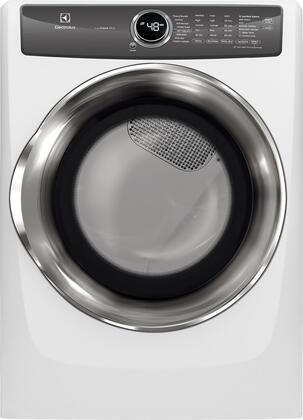 Electrolux EFME527UIW 27 Inch Electric Dryer with 8 cu. ft. Capacity, 8 Dry Cycles, 5 Temperature Settings, Steam Cycle, Energy Star Certified, Luxury-Dry System, LuxCare Lint Shield, Perfect Steam Wrinkle Release in White