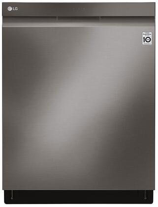 LDP7808BD Dishwasher with Top Control  Pocket Handle  QuadWash  and TrueSteam  in Black Stainless