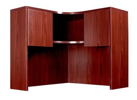 """N126-M 42"""" x 42"""" Corner Open Hutch with 3mm PVC Banding in"""