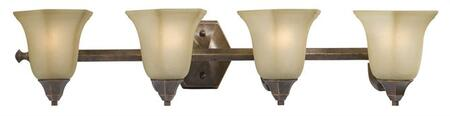 BF438496 Hallsburg Bath Collection 4 Light Sconce: Tumbled