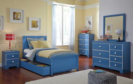Bronilly Twin Bedroom Set With Panel Storage Bed  Dresser  Mirror  Night Stand And Chest In