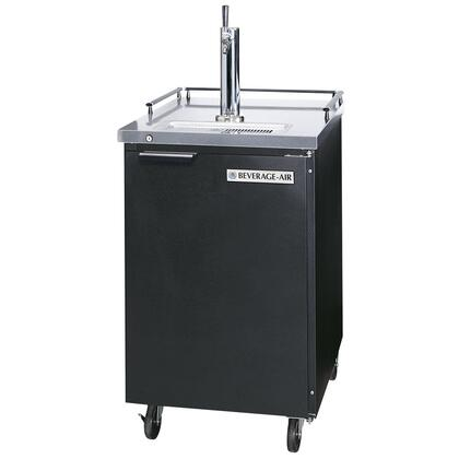 "BM23B Black Beer Dispenser 24"" with 1 Keg Kegerator  Portable design  Black exterior  Stainless steel top & floor  Galvanized interior  Self-closing door with"