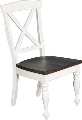 Carriage House Collection 1666EC 18 Dining Chair with Cross Back  Wood Seat  Decorative Turned Legs and Wood Construction in European