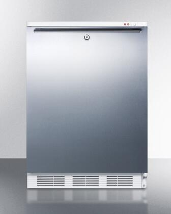 ALF620LSSHH 24 inch  ADA Compliant Freestanding Medical All-Freezer with 3.2 cu. ft. Capacity  Manual Defrost  3 Drawer Bins  and Adjustable Thermostat: Stainless