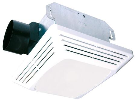 ASLC70 Exhaust Fan with 70 CFM  Lighting  23 Gauge Galvanized Metal Housing  and Polymeric Grill  in