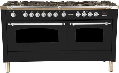 HGR6001DFGB 60 inch  Dual Fuel Natural Gas Range with 8 Sealed Burners  5.99 cu. ft. Total Capacity True Convection Oven  Griddle  in Glossy