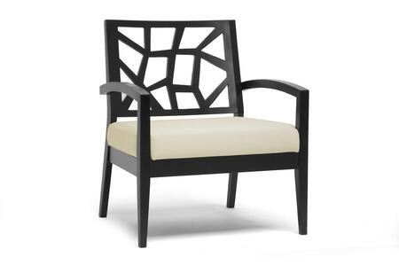 JENNIFER LOUNGE CHAIR-110/661 Baxton Studio Jennifer Modern Lounge Chair With Wood And Fabric Construction    In Black And