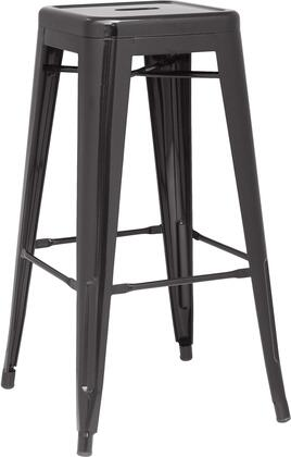 8015-BS-BLK 30 Galvanized Steel Bar Stool in