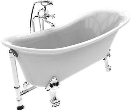 Dorya Pure Acrylic 69 inch  All-in-One Clawfoot Tub