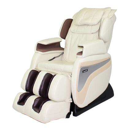 TI-8700 CREAM Massage Chair with 2 Staged Zero Gravity Massage  Lower Lumbar Heat  Hip and Seat Vibration  5 Pre-Set Programs  and Foot And Calf Air Massage in