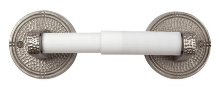 CF176SN Solid Copper Toilet Tissue Holder with Round Backplates in Satin Nickel