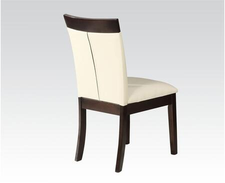 Keelin Collection 71038 19 inch  Side Chair with PU Leather Upholstered Seat and Back  and Tapered Legs in Espresso