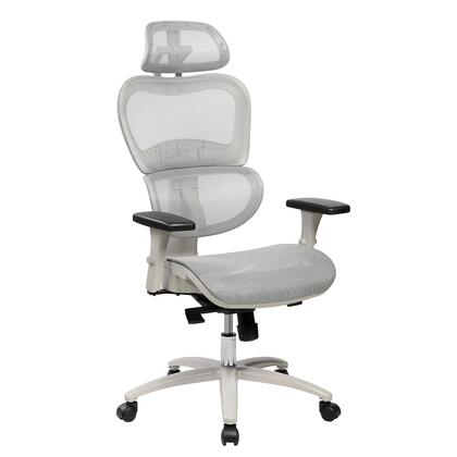 RTA-5004-GRY High Back Mesh Office Executive Chair with Neck Support. Color: