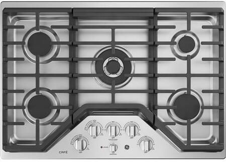 CGP9530SLSS 30 inch  Built In Gas Cooktop with 20 000 BTU Tri-Ring Burner  Sealed Cooktop Burner  White LED Backlit Heavy-Duty Knobs  and Control Lock Capability