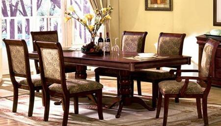 St. Nicholas I Collection CM3224T4SC2AC 7-Piece Dining Room Set with Rectangular Table  2 Arm Chairs and 4 Side Chairs in Antique