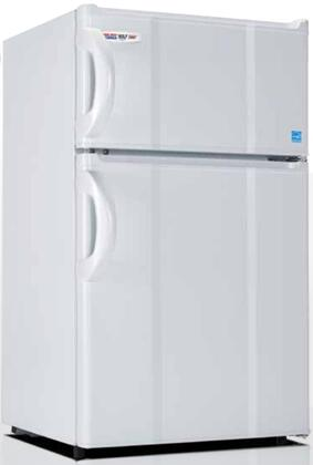 3.0RMF4RW 19 inch  Energy Star Top Freezer Compact Refrigerator with 3 cu. ft. Capacity  0 Degree Freezer  Tall Bottle Storage  and Crisper  in White and Right