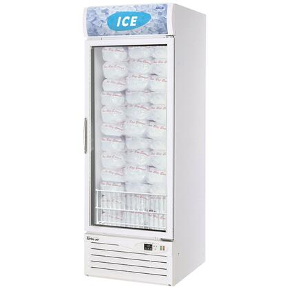 TGIM23 23 cu. ft. Ice Merchandiser with LED Interior  High Tech Monitor  Triple Pane Heated Glass Doors  Digital Temperature Control System and High Density PU