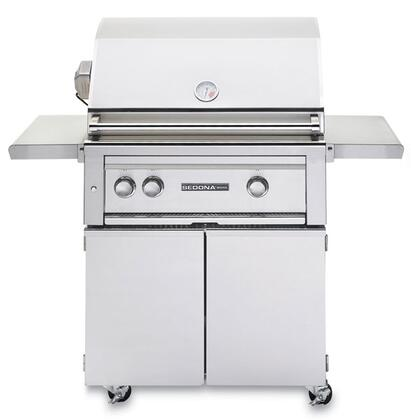Sedona 2-Piece Stainless Steel Outdoor Grill Set with L500PSRNG Natural Gas Grill with Rotisserie and L500CART 30