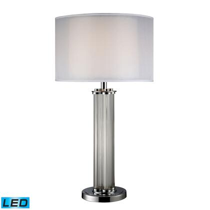D1614-LED Hallstead LED Table Lamp In Chrome With Silver Organza
