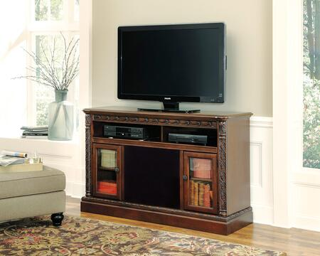 North Shore Collection W553-68A41 2-Piece Set with TV Stand and W100-41 Large Integrated Audio Unit in Dark