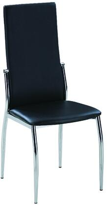 Luna Collection LUNA-SC-Grey Side Chair with Contour Back  Grey PU Leather Upholstery and Tapered Legs in Chrome