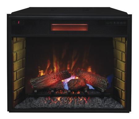"""28II300GRA 28"""" Infrared SpectraFire Plus Electric Fireplace Insert with Safer Plug Fire Prevention Technology Brick-Look Detail Interior and Remote Control in"""