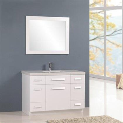 J48-DS-W Moscony 48 inch  Single Sink Vanity Set in