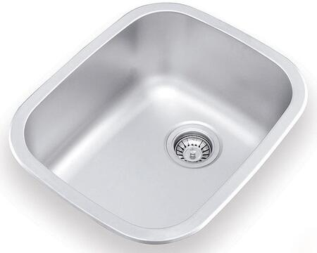 UN376 17 inch  Wide Undermount/Drop-in Single Bowl Sink - 18 Gauge: Stainless