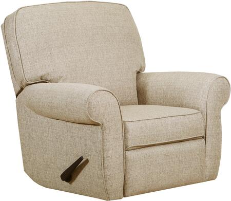 """57005-19_Macintosh_Sage_41""""_3-Way_Rocker_Recliner_with_Rolled_Arms_in_Tan"""