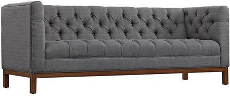 Nye Koncept 223369-a Aluminum Gray Upholstered Kaja Sofawith A Natural Finish Frame