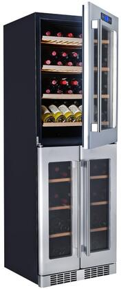 K430AVH Triple Zone Wine Cooler with 121 Bottle Capacity  Built-In Compressor  Touch-Key Control Panel  Stainless Steel Handle  Cool LED Lighting  Fan Cooling