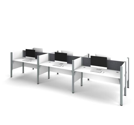 100873CG-17 Pro-Biz Six workstation in White with Gray Tack