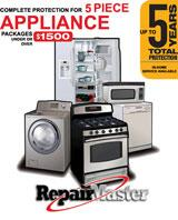 Major Appliance 5 Year Warranty for 5 Piece Combo Under