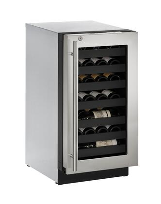 """U-3018WCS-13A 24"""" Wine Captain with 3.6 cu. ft. Capacity  Right Hinge  Convection Cooling  LED Lighting  4 Leveling Legs  U-Select Control and Stainless Steel"""