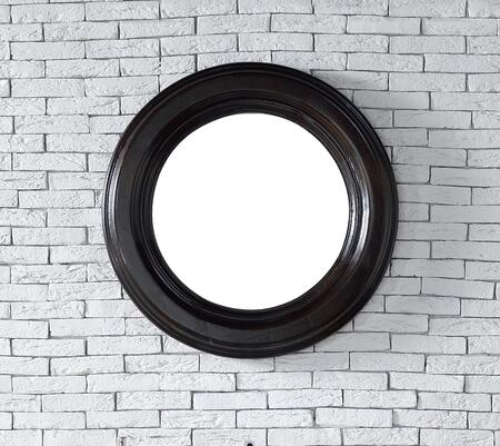 Vancouver Collection 505-M29-CEO 29 inch  Mirror with American Ash Solids  Beveled Glass and Recessed Keyhole Brackets in Cerused Ebony