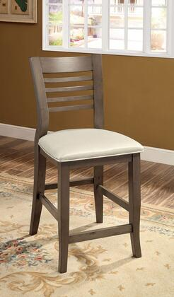 Dwight II Collection CM3988GY-PC-2PK Set of 2 Counter Height Chair with Ladder Back and Padded Leatherette Seat in