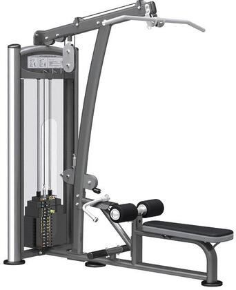 E-5087 Titanium Series 9322 Lat Pull/Vertical Row Machine with 200 lbs. Incremental Weight Stack  Military Grade Cables and High-Tech Oval Tubing in Black and