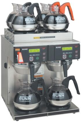 38700.0014 AXIOM 4/2 TWIN  12 Cup Automatic Coffee Brewer With 6 Warmers  SplashGard  Hot Water Faucet  Energy-Saver Mode  Large 200oz (5.9L)  in Stainless