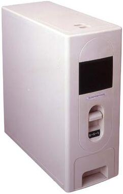 SC-10 Rice Dispenser  22 lb Capacity  1 cup (150g) Dispense  Unique design keeps grams dry and fresh  User friendly 1 press