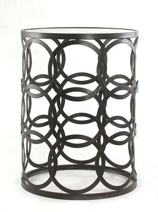 BTGCIR Barrel Table w/ Circles and Removeable Glass