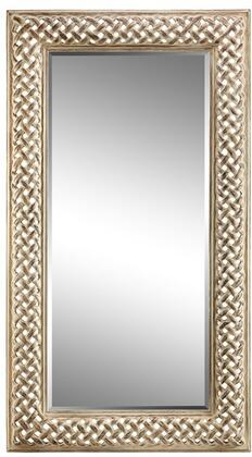 Amelia Estate Collection 13435 85 inch  Floor Mirror with Open Braid Design  Metal Frame and Powder Glaze in