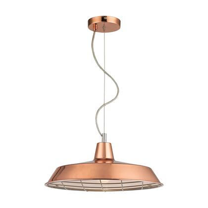 Ajax Collection D2966 16 inch  Pendant Ceiling Light with 1 Light Capacity  UL Listed  E26 Bulb Type and Metal Construction in Copper