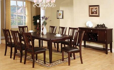 Edgewood I Collection CM3336T8SCSV 10-Piece Dining Room Set with Rectangular Table  8 Side Chairs and Server in Espresso