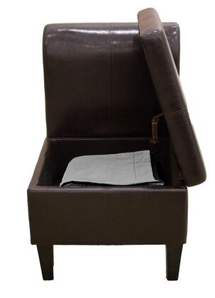 P-S00179 Paris Sofia Chair with Storage  Multiple Uses  Very Convenient: Dark