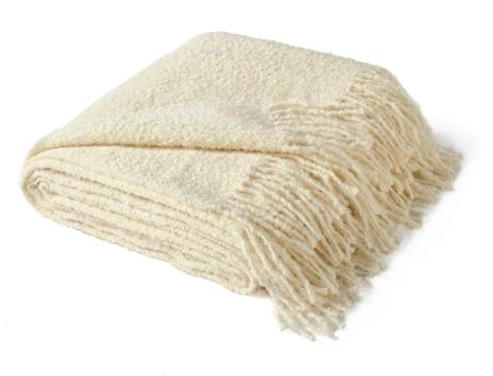 Auskin LPWTRE12x18-100 70 inch  x 60 inch  100% Baby Alpaca Woven Boucle Throw in