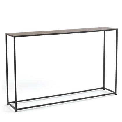 16670.08.132 Urban Narrow Console Table With Solid Steel Rods  Steel Plate Tops & In