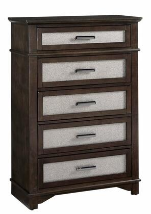 Dazzle B103-14 Chest with 4 Drawers  Simple Pulls and Molding Details in Chocolate and Champagne